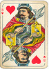 Dutch playing cards from 1920-1927: Jack of Hearts