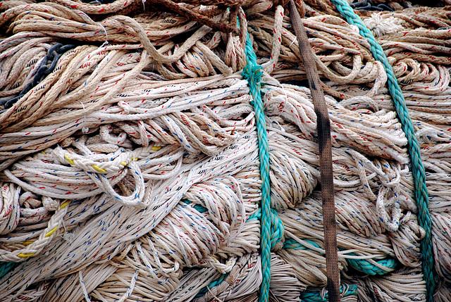 Nets in Scheveningen harbour