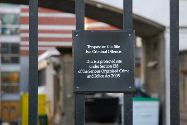 Trespass is a criminal offence