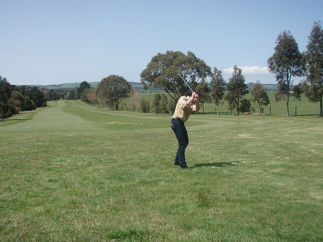 our first golf lesson