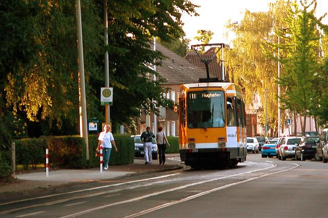 Tram Typ M in Mülheim on the Ruhr, Germany