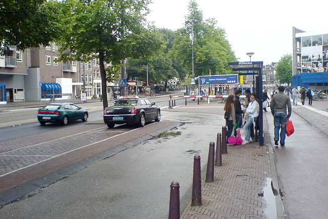 Amsterdam – taxi stand and some tourists