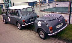 Oldtimer day in Ruinerwold (NL): 1990 Mini 1000E with matching mini-Mini