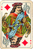 Dutch playing cards from 1920-1927: Jack of Diamonds