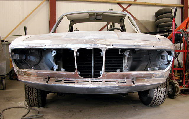 A BMW 3.0 waiting for a paint job