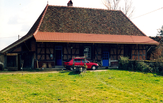 French farm with French car