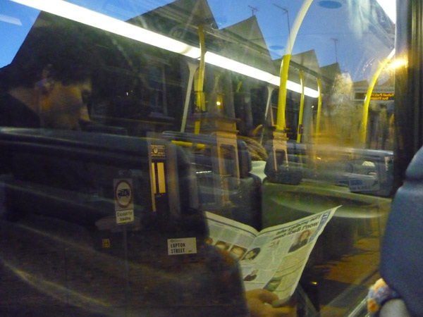 On the bus, Tufnell Park Rd