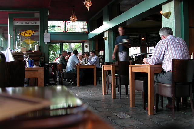 Interior of a cafe in Leiden