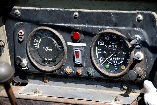 1969-1975 (?) Landrover Lightweight – dashboard
