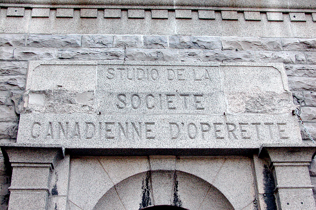 Montreal images: Studio of the Canadian Operette Society. Luckily it was closed.