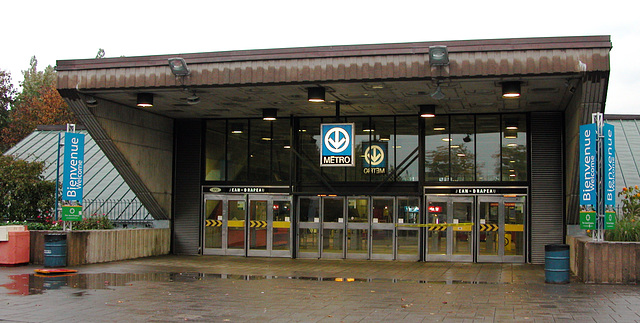 Montreal images: entrance to metro station Jean-Drapeau