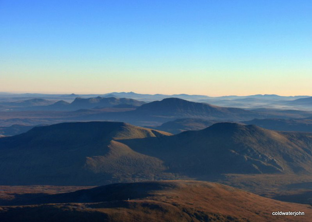 Looking north east from above Strath Shinary