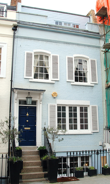The famous no. 9 Bywater Street: home of George Smiley