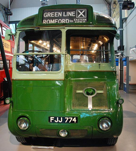 London Transport Museum: Leyland Green bus