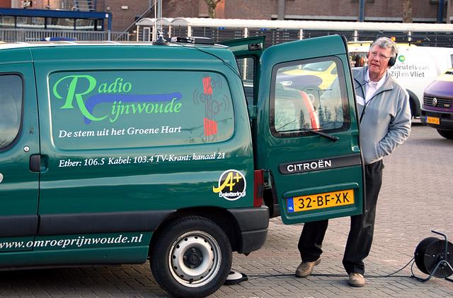 Running event in Leiden: Radio Rijnwoude reporting events