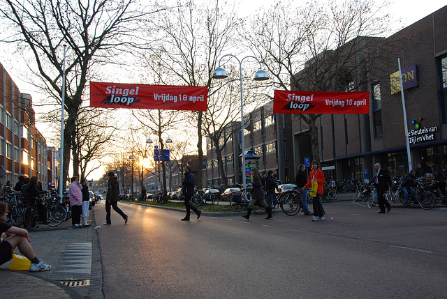 Running event in Leiden: at the end of the race