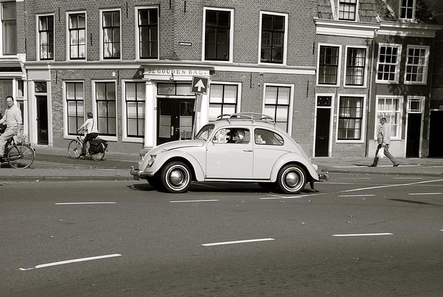 1960 Volkswagen Beetle 1200L in B/W