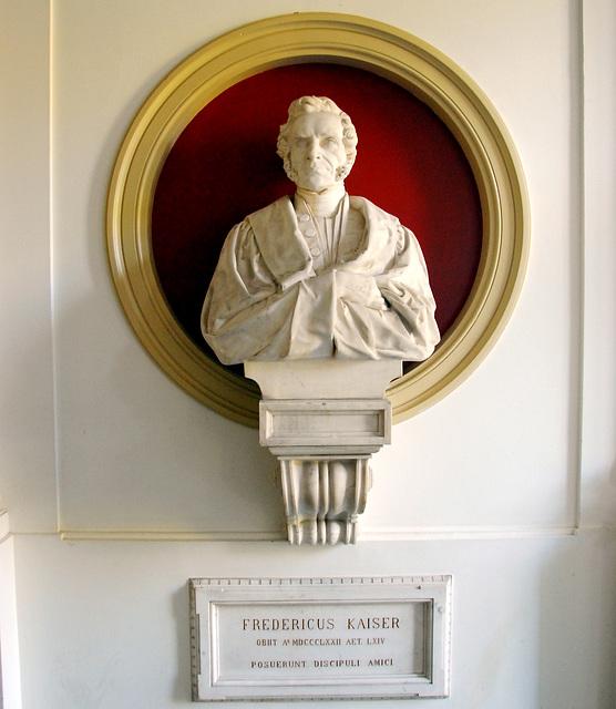 Bust of Frederik Kaiser inside Leiden Observatory