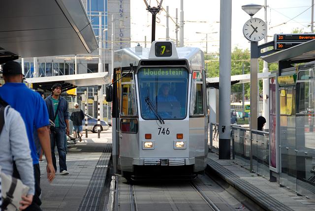 Trams in Rotterdam
