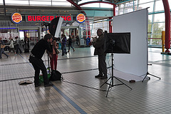 Taking pictures inside Utrecht Central Station