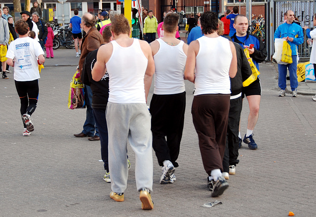 Running event in Leiden: Muscle boys