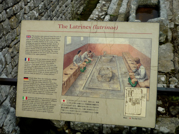 What the Romans did in the latrinae