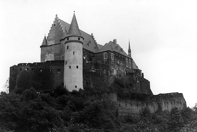 The castle at Vianden, Luxemburg
