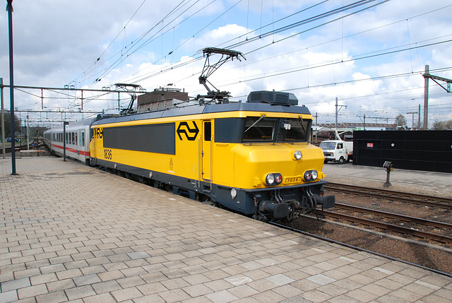 Train to Stettin and Glowny with engine 1836