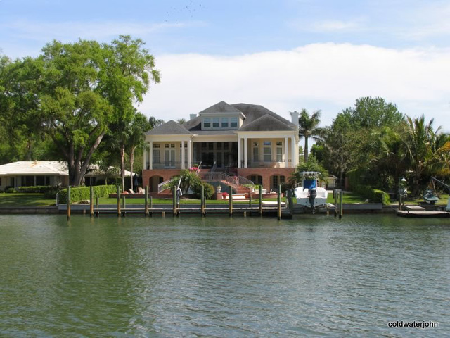 Waterfront home on Baypoint Drive Sarasota