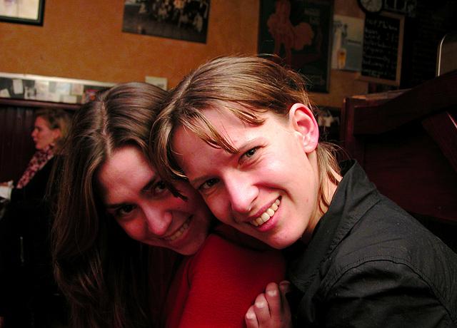 Friends posing
