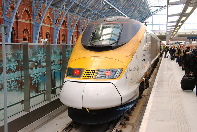 The Eurostar High-Speed train which took me to London