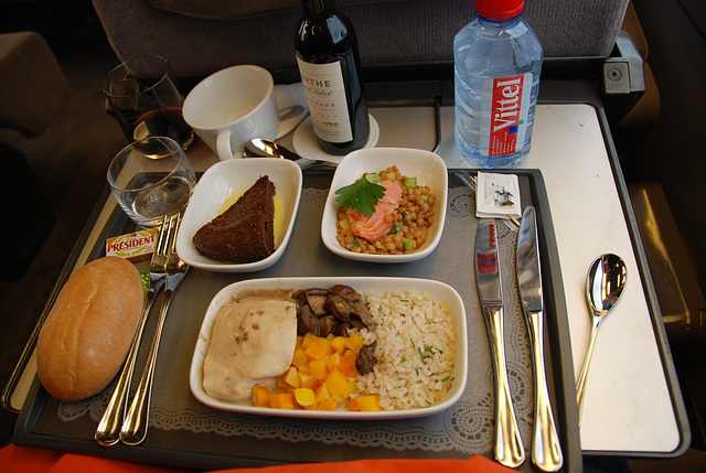 My meal on the Eurostar train from Brussels to London