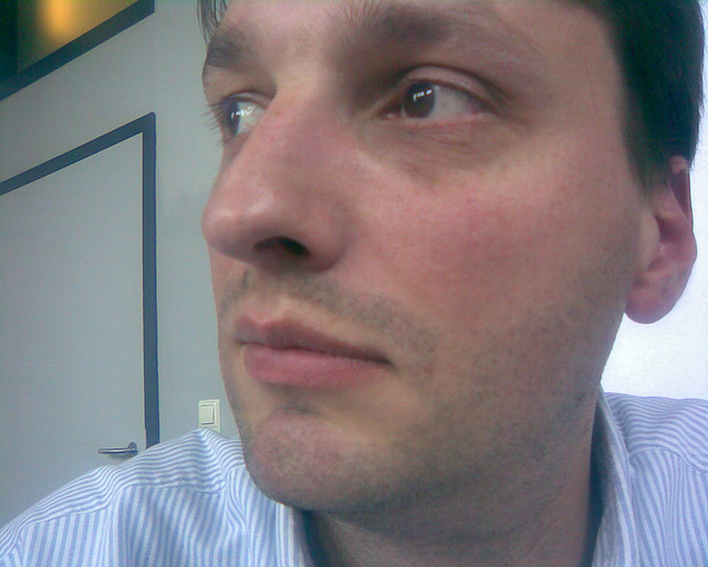 Me at a meeting