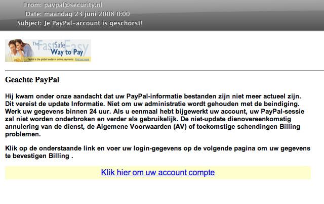 Geachte Paypal