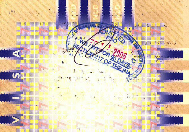 Last days of my old passport: US Homeland Security stamp