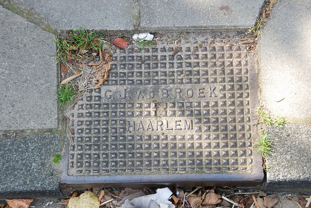 Sewer cover by G.J. v.d. Broek of Haarlem