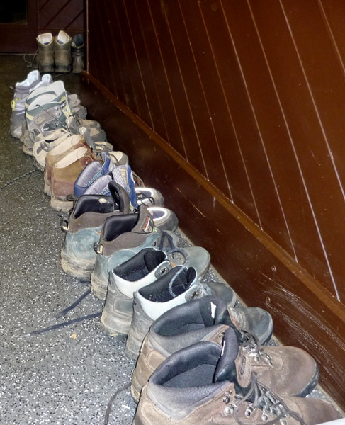 Boots waiting for us in the morning