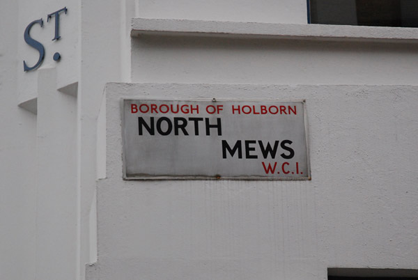 North Mews WC1