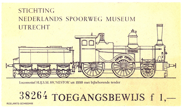 Ticket to the national Dutch railway museum