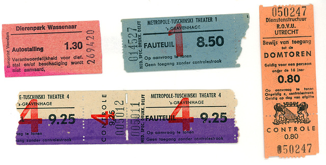 Miscellaneous tickets