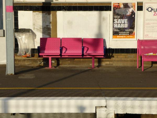 Pink seats