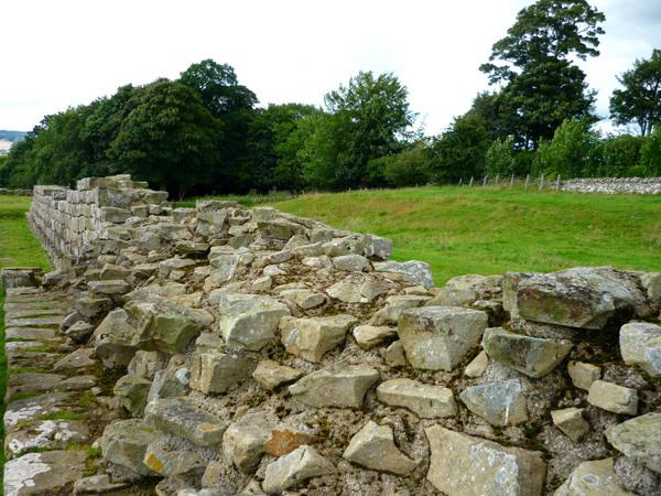 Wall at Brunton Turret