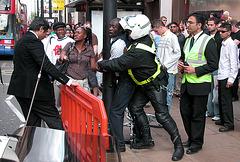 Arrest on Oxford Street