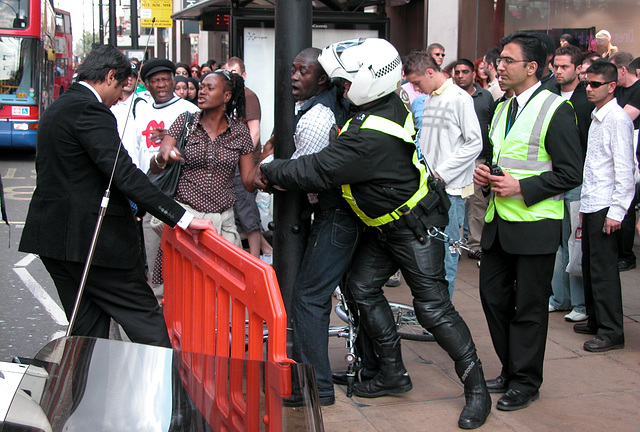 Arrest on Oxford Street