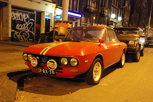 A night in Amsterdam: 1976 Lancia Fulvia Sport 1.3S