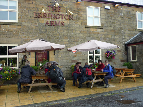 A warming drink at the Errington Arms