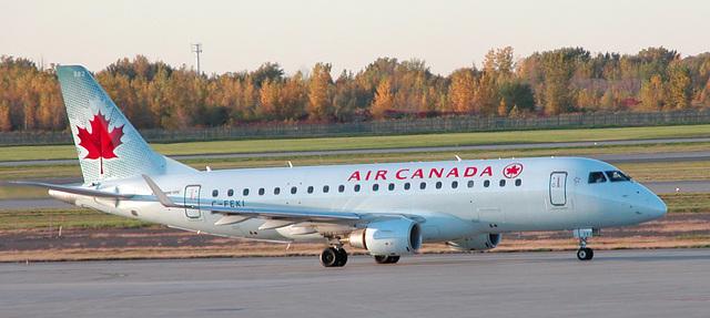 At Montreal airport: Embraer Regional Jet