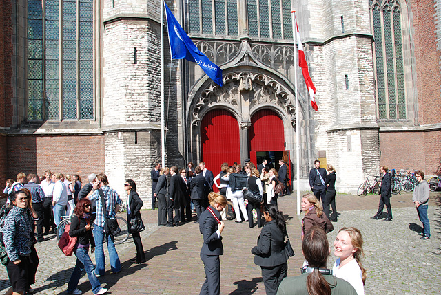 Opening of the academic year of Leiden University: In front of the Highland Church
