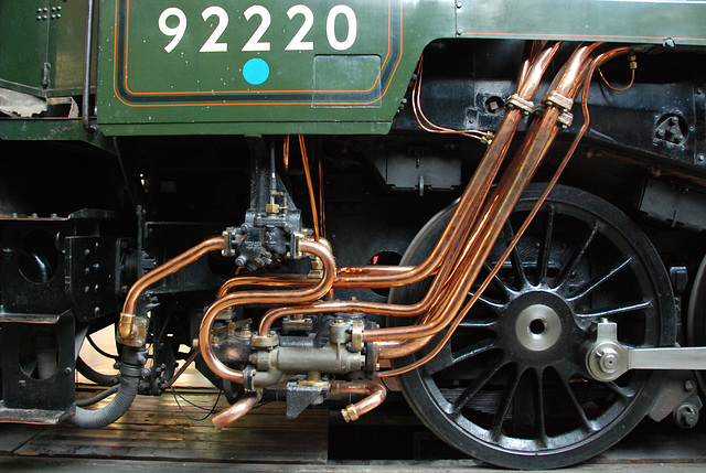 A visit to the National Railway Museum in York: water injection unit