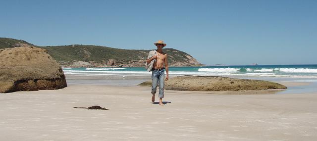 Tomás on Squeaky Beach